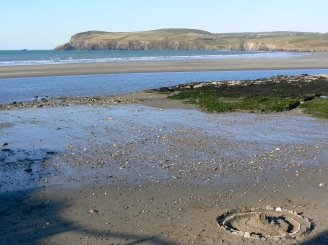beach-iwth-stone-ring-wales
