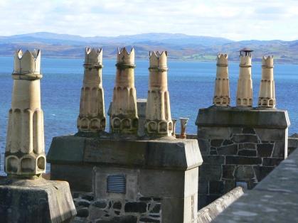 duart-castle-chimneys