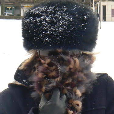 fur-hat-in-snow