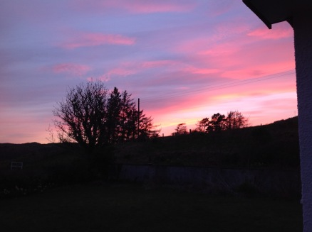 sunset clachan