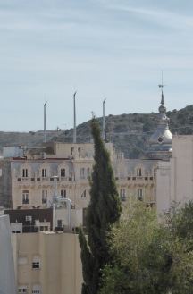 masts and church