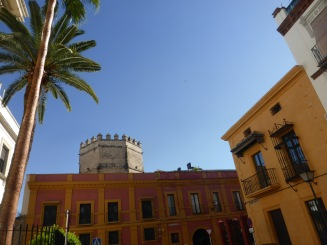 tower and palm tre