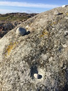 ringing stone close up