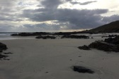 stormy sky beach