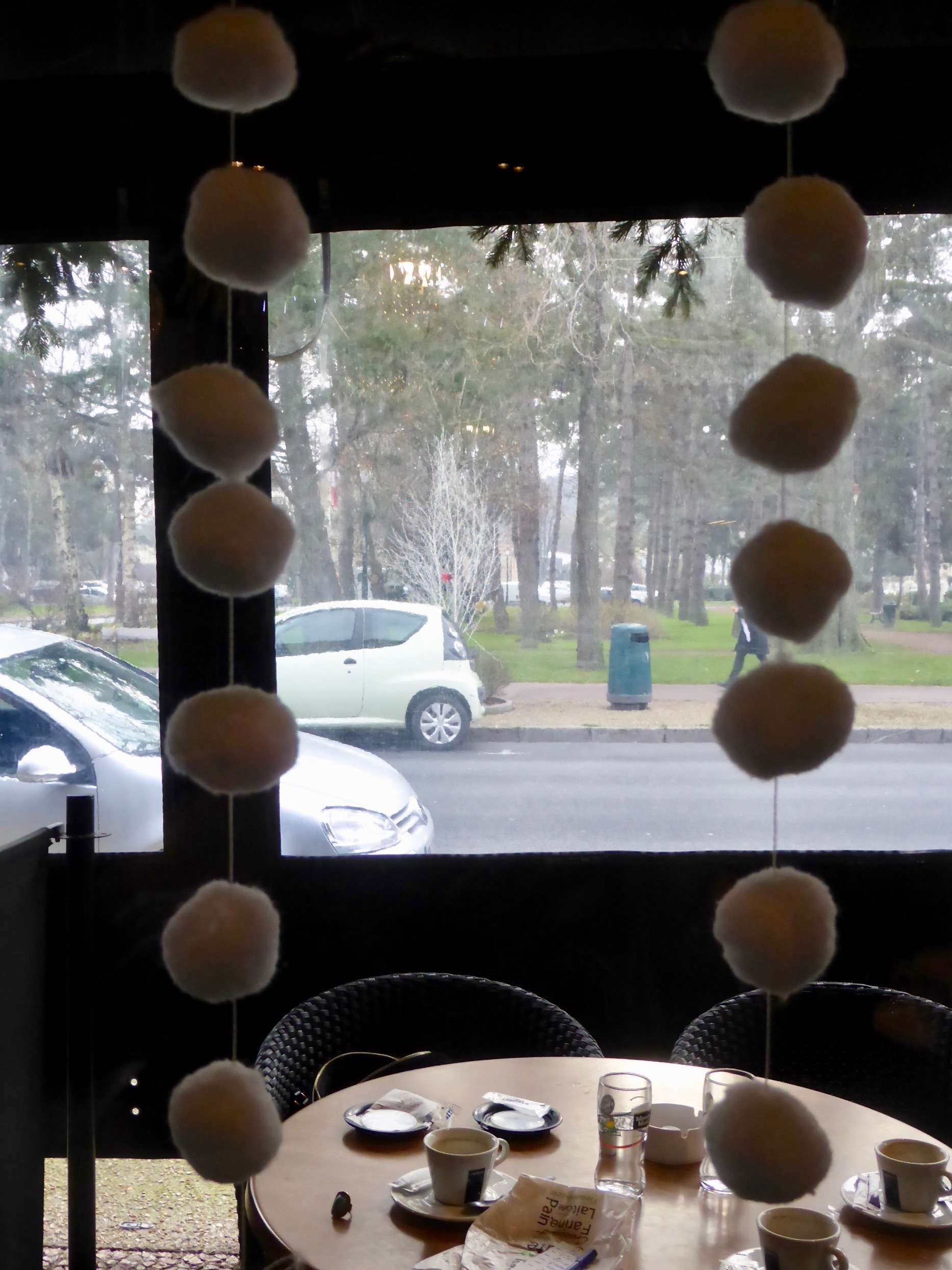 looking out from cafe